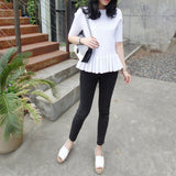 Linda White Knit Peplum Top - HELLO PARRY Australian Fashion Label