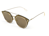Luxembour Thin Frame Sunglasses - Gold - HELLO PARRY Australian Fashion Label