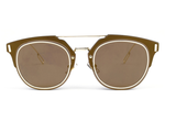 Luxembour Thin Frame Sunglasses - Gold