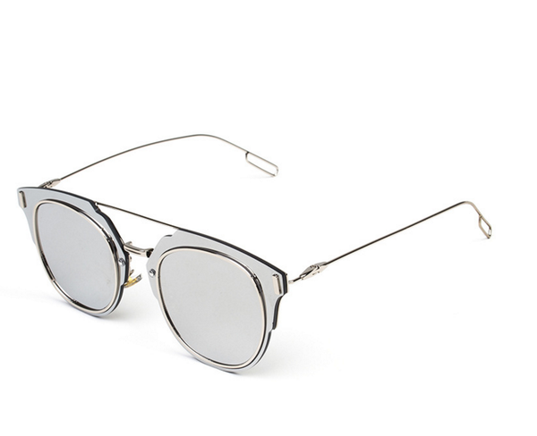 Luxembour Thin Frame Sunglasses - Metallic Mirror - HELLO PARRY Australian Fashion Label