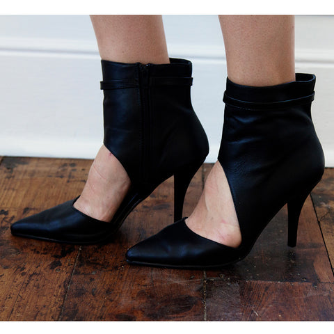 Citadine Pointy Asymmetrical Cutout Heels - HELLO PARRY Australian Fashion Label