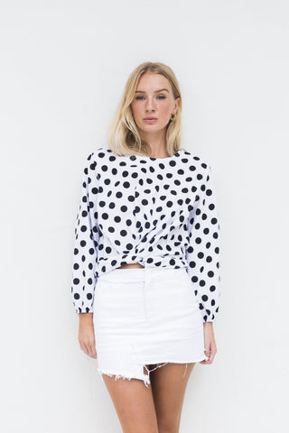 SANDRA POLKA DOT COTTON TOP