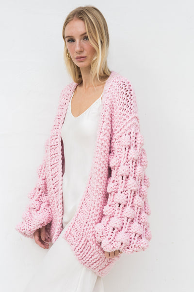 ELLERY BALLOON SLEEVE KNIT CARDIGAN