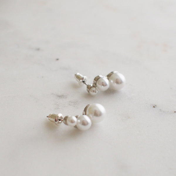 Mirabella Triple Pearl Studs - HELLO PARRY Australian Fashion Label