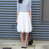Marina Organza Midi Skirt-Blush Pink - HELLO PARRY Australian Fashion Label