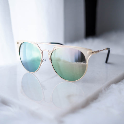 Moscow Retro Gold Frame Sunglasses