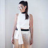 Alisha Textured Crop Top - HELLO PARRY Australian Fashion Label