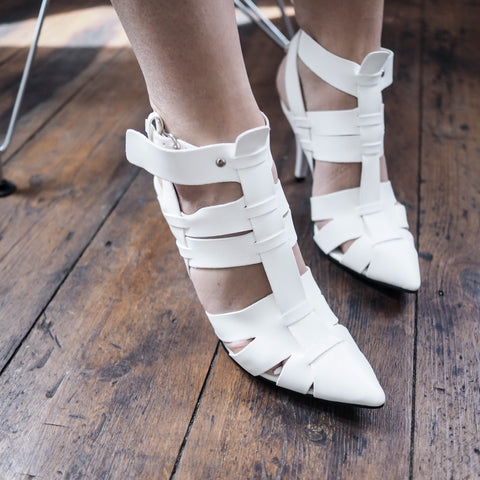 Miranda Pointy Heels- WHITE - HELLO PARRY Australian Fashion Label