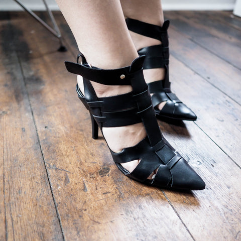 Miranda Pointy Heels -BLACK - HELLO PARRY Australian Fashion Label