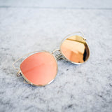 Russia Mirrored Cat Eye Sunglasses