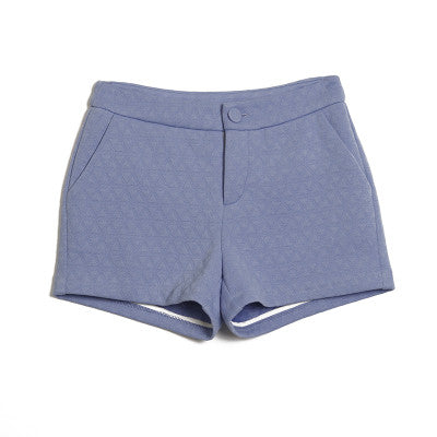 Peyton Relaxed Textured Short - Blue - HELLO PARRY Australian Fashion Label
