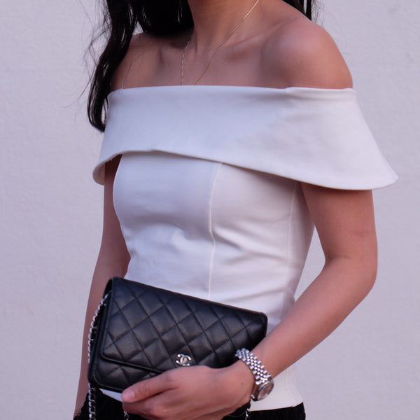 Velma Folded Off The Shoulder Top - HELLO PARRY Australian Fashion Label