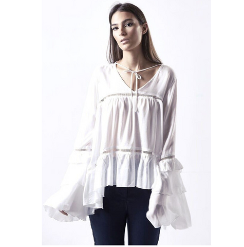 Poppy Bell Sleeve Top - HELLO PARRY Australian Fashion Label