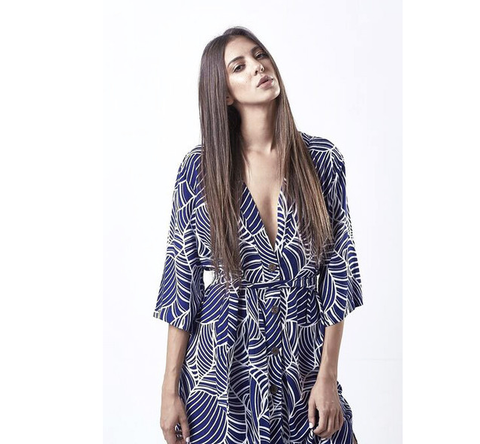 Print Elliptic Kimono - HELLO PARRY Australian Fashion Label