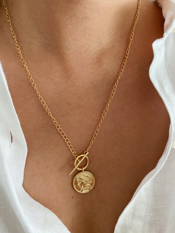 Roman Love Coin Necklace