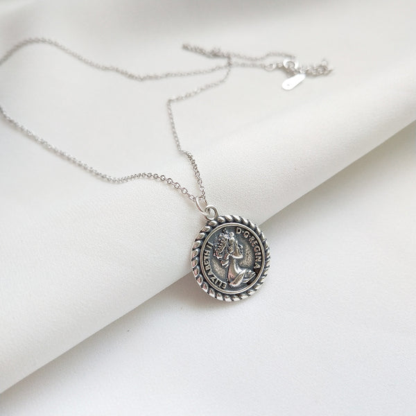 Regina Silver Coin Necklace