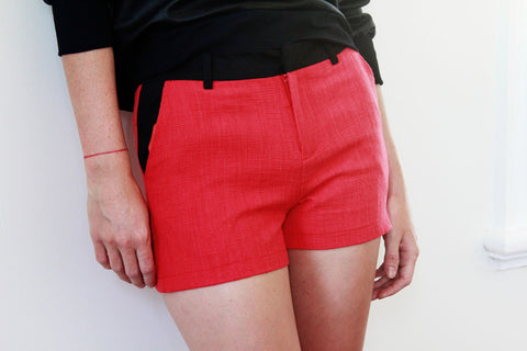 Rubie Tweed Red shorts