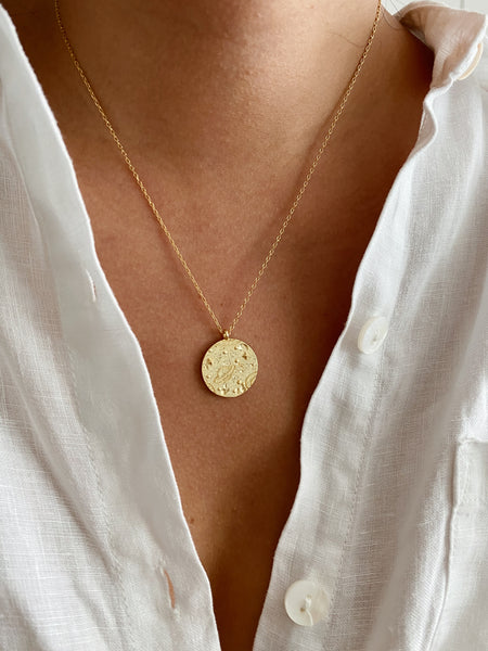 Saturn Star Coin Necklace