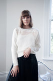 Sawyer Perforated Knit Sweater -White