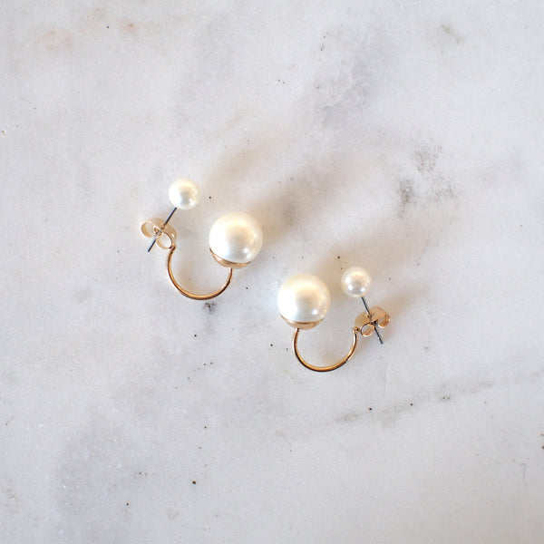 Scarlett Double Pearl Stud Earrings