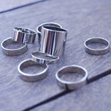 Stack Metal Knuckle Ring Set