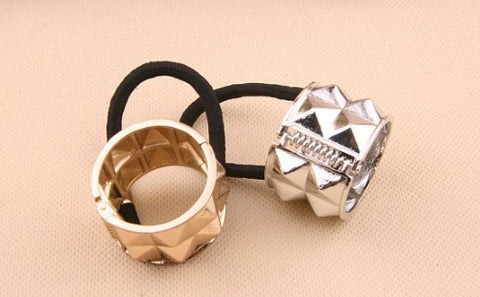 Stud Metal Circle Hair cuff