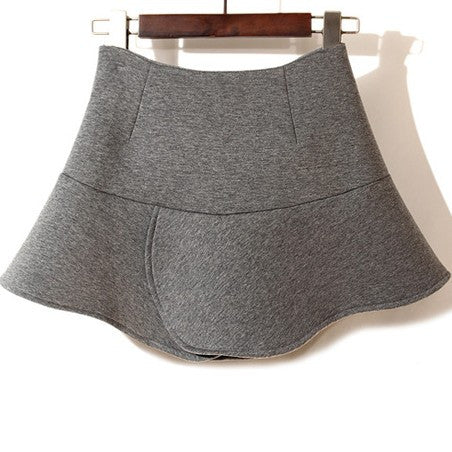 Susie Fluted Neoprene Skirt -Pepper Grey - HELLO PARRY Australian Fashion Label