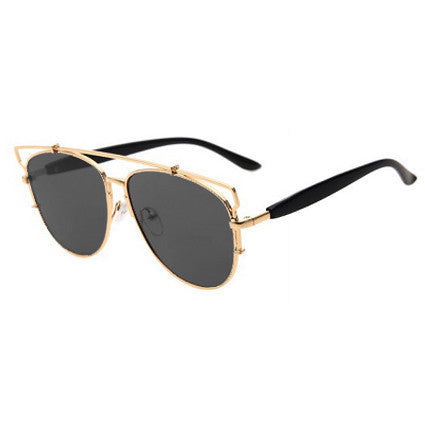 Swiss Gold Frame Sunglasses - HELLO PARRY Australian Fashion Label