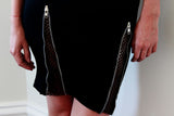 Victoria Space Mesh Black Skirt