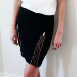 Victoria Space Mesh Black Skirt - HELLO PARRY Australian Fashion Label
