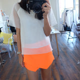 Minute Tailored Wrap Skort -Fluor Tangerine