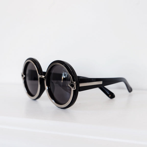 Positano Round Silver Arrow Sunglasses - HELLO PARRY Australian Fashion Label