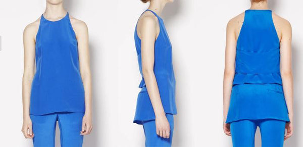 Ava Blue Silk Top - HELLO PARRY Australian Fashion Label