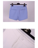 Peyton Relaxed Textured Short - Blue