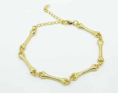 Gold Bone Chain Bracelet - HELLO PARRY Australian Fashion Label