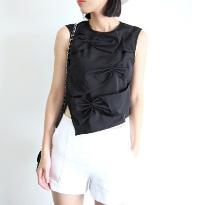 Diana Knot Bow Top - HELLO PARRY Australian Fashion Label