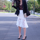 Victoria Lace Floral Skirt - HELLO PARRY Australian Fashion Label