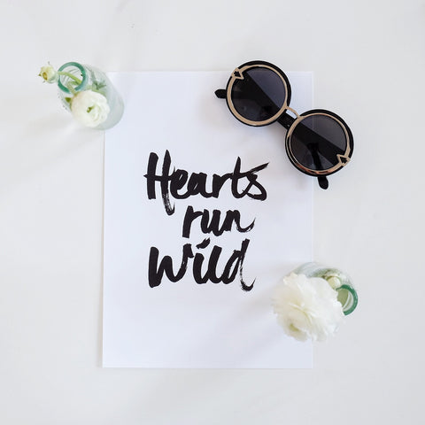 Hearts Run Wild Print - HELLO PARRY Australian Fashion Label