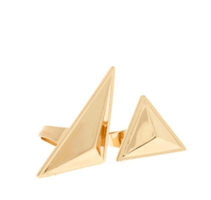Double Triangle Ring - HELLO PARRY Australian Fashion Label
