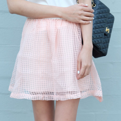 Isabella Pink Checkered Skirt - HELLO PARRY Australian Fashion Label