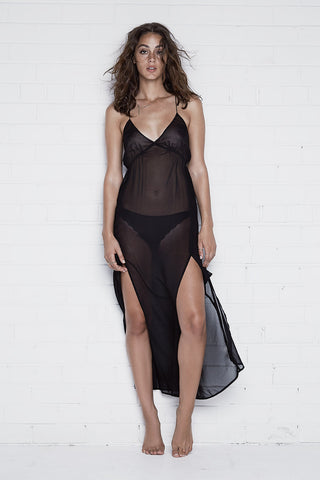 Maddox See-Through Dress Sleepwear - HELLO PARRY Australian Fashion Label