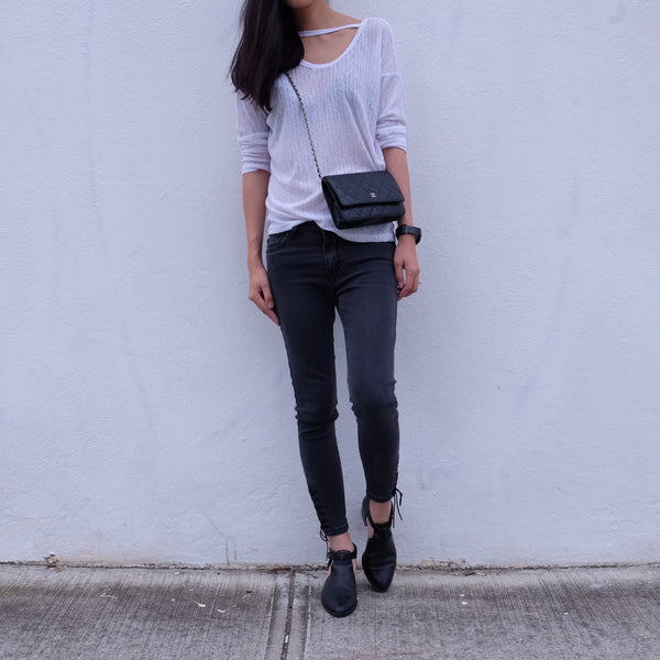Holly Basic Two Way Blouse