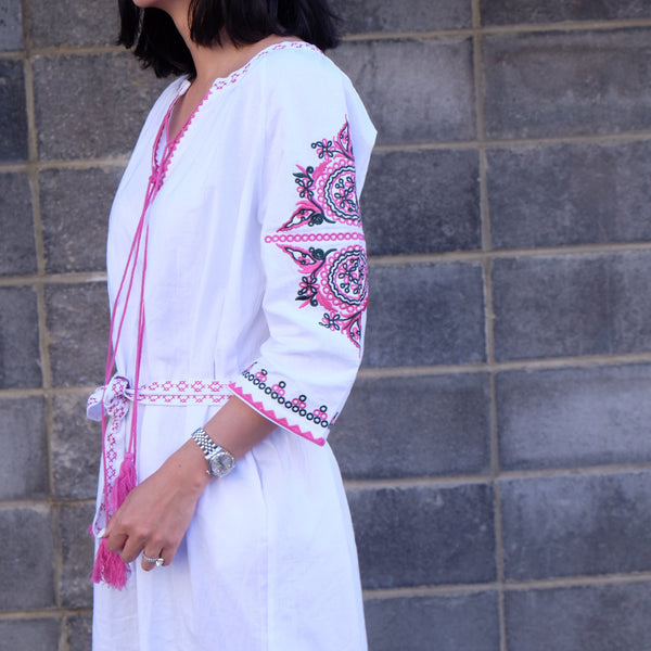 EMIRA EMBROIDERED ROBE/DRESS