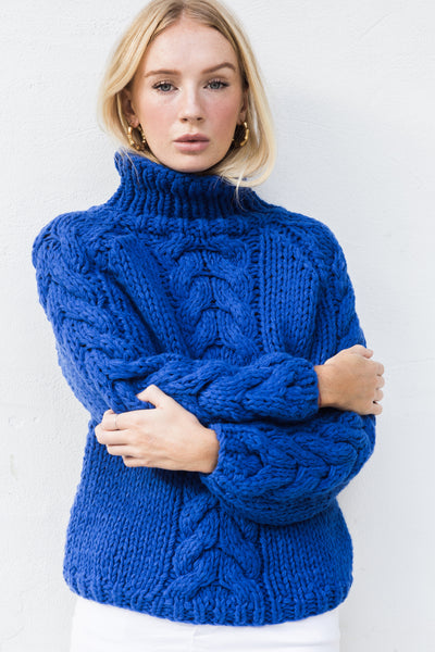 TILLY CABLE HAND KINTTED JUMPER