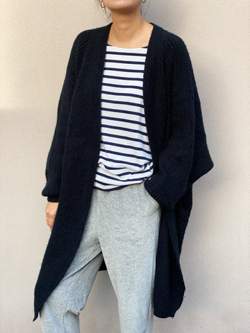 RUBY OVERSIZE CARDIGAN -BLACK