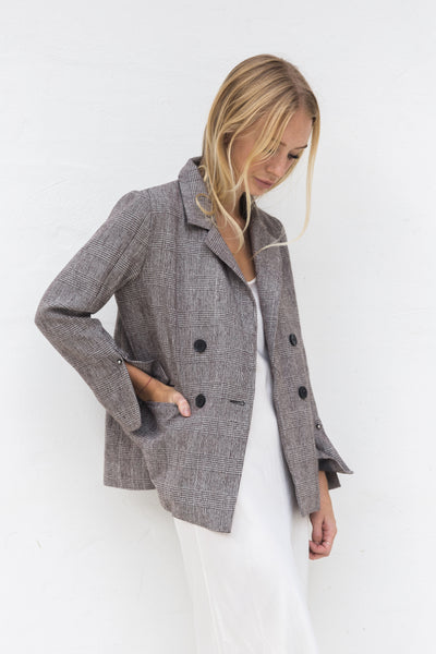 JORDARNA PLAID BLAZER