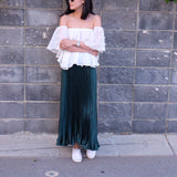 Coit Ruffled Off-Shoulder Top- White