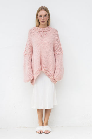 DESIREE OVERSIZE MERINO WOOL JUMPER- PINK