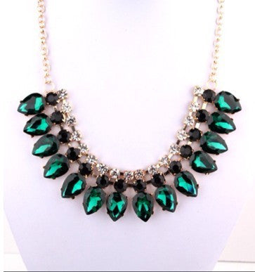 Rosa Crystal Tear drop Necklace - HELLO PARRY Australian Fashion Label