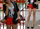 Bright Red Coloured Micro Shorts - HELLO PARRY Australian Fashion Label